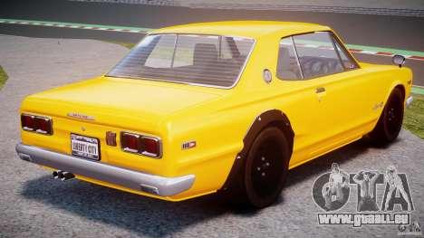 Nissan Skyline 2000 GT-R für GTA 4 hinten links Ansicht
