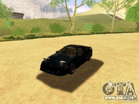 Pontiac Fiero V8 pour GTA San Andreas vue de dessus