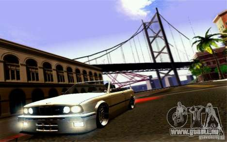 BMW E30 M3 Cabrio für GTA San Andreas Unteransicht