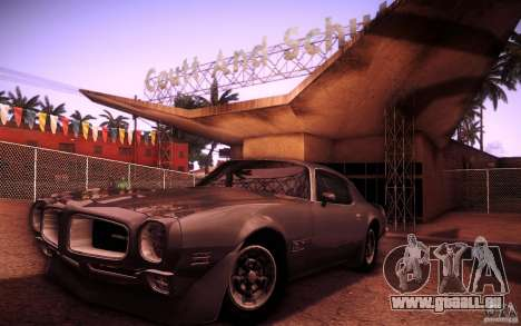 Pontiac Firebird 1970 pour GTA San Andreas vue intérieure