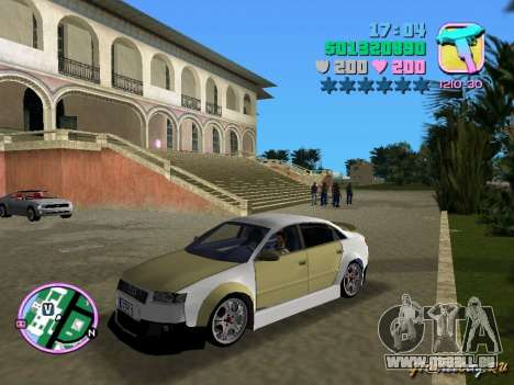 Audi S4 Tuned für GTA Vice City