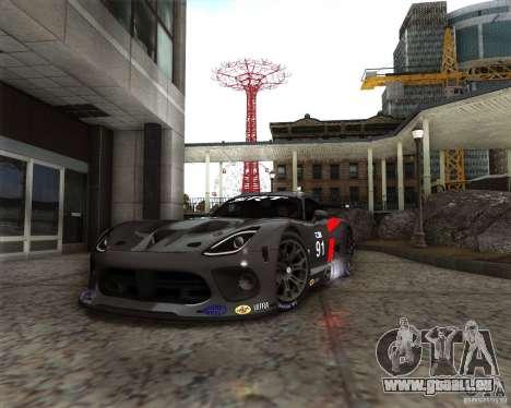 SRT Viper GTS-R V1.0 pour GTA San Andreas laissé vue