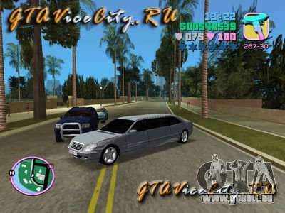 Mercedes-Benz S600L pour GTA Vice City