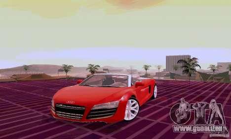 Audi R8 V10 Spyder 5.2. FSI pour GTA San Andreas