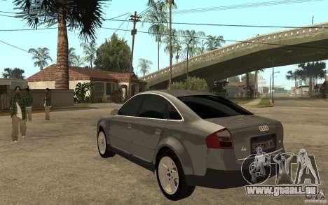 Audi A6 3.0i 1999 für GTA San Andreas zurück linke Ansicht