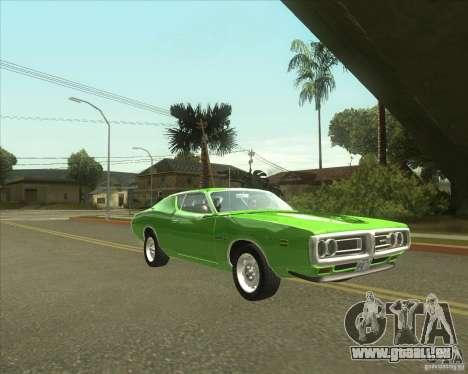 1971 Dodge Charger Super Bee pour GTA San Andreas sur la vue arrière gauche