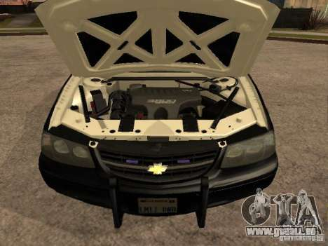 Chevrolet Impala Police 2003 pour GTA San Andreas vue de droite