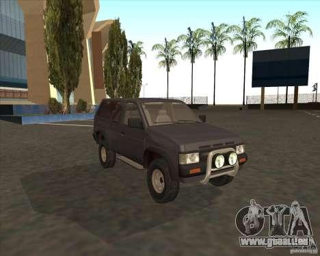 Nissan Terrano pour GTA San Andreas sur la vue arrière gauche