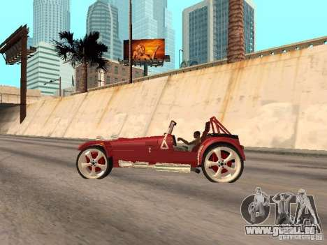 Caterham CSR 260 für GTA San Andreas zurück linke Ansicht