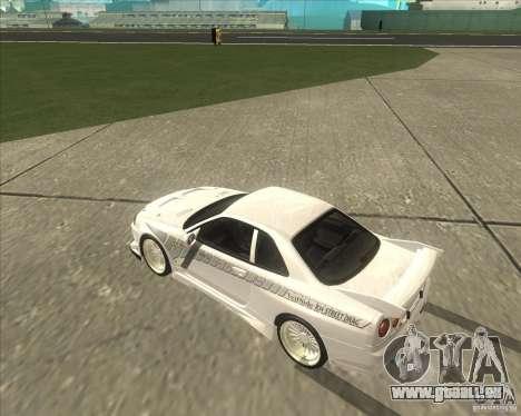 Nissan Skyline R34 Veilside street drag pour GTA San Andreas vue de droite
