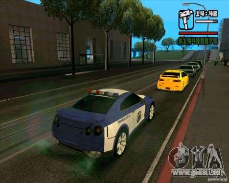 Nissan GTR35 Police Undercover für GTA San Andreas linke Ansicht