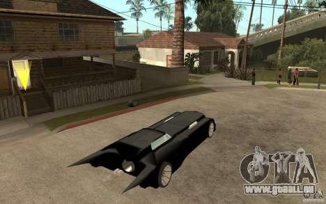 Batmobile Tas v 1.5 für GTA San Andreas rechten Ansicht