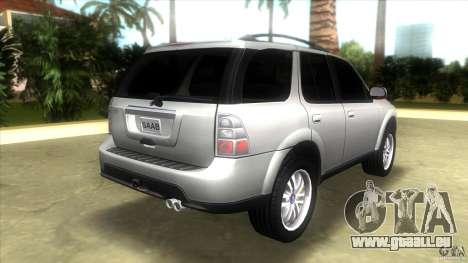 SAAB 9-7X pour GTA Vice City sur la vue arrière gauche