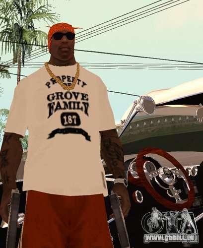 Bandes de remplacement, tatouages, vêtements, et pour GTA San Andreas troisième écran