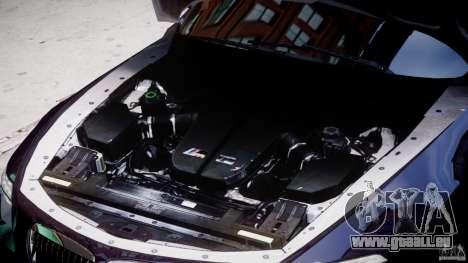 BMW M6 Orange-Black Bullet pour GTA 4 Vue arrière