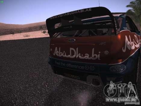 Ford Focus RS WRC 2010 pour GTA San Andreas vue de côté