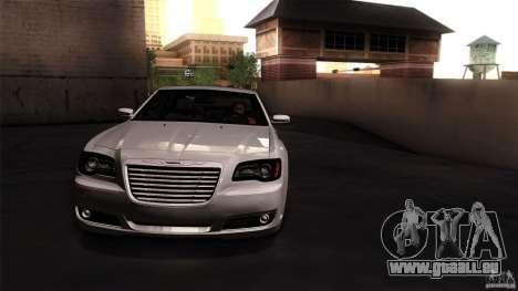 Chrysler 300C V8 Hemi Sedan 2011 pour GTA San Andreas sur la vue arrière gauche