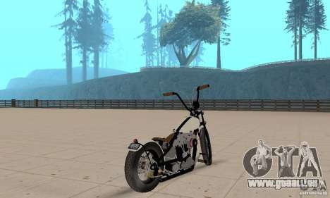HD Shovelhead Chopper v2. 1-matte für GTA San Andreas linke Ansicht