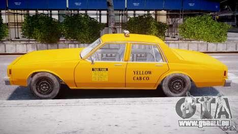 Chevrolet Impala Taxi 1983 pour GTA 4 est un côté