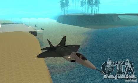 YF-22 Standart für GTA San Andreas Rückansicht