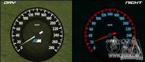 Nouveau compteur de vitesse BMW pour GTA San Andreas