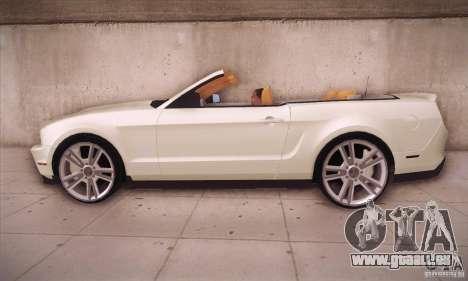 Ford Mustang 2011 Convertible pour GTA San Andreas laissé vue