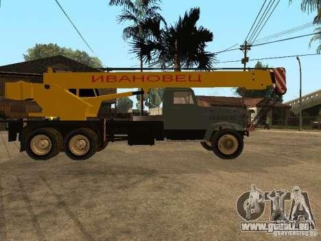 Camion KrAZ pour GTA San Andreas vue de droite