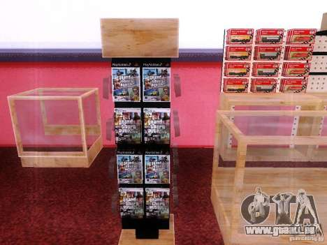 Disques avec la GTA en magasin zéro pour GTA San Andreas