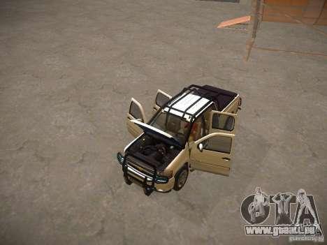 Chevrolet Silverado pour GTA San Andreas vue de dessus