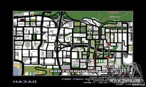 Lave-auto pour GTA San Andreas troisième écran