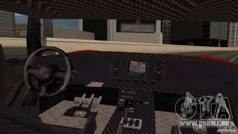 Bullet HD pour GTA San Andreas sur la vue arrière gauche