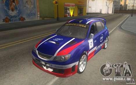 Neue Schallplatten bis Subaru Impreza WRX STi für GTA San Andreas Seitenansicht