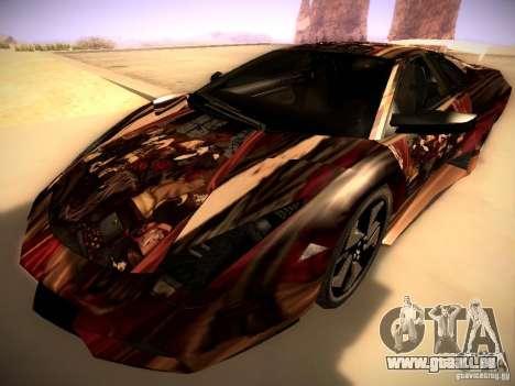 Lamborghini Reventon pour GTA San Andreas vue de dessous
