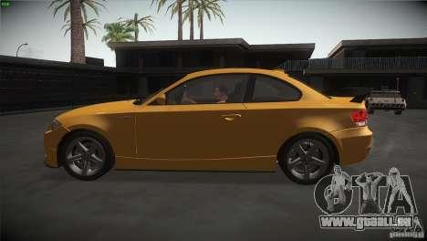 BMW 135i Coupe Road Edition pour GTA San Andreas laissé vue