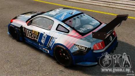 Ford Mustang 2010 GT1 pour GTA 4 Vue arrière de la gauche