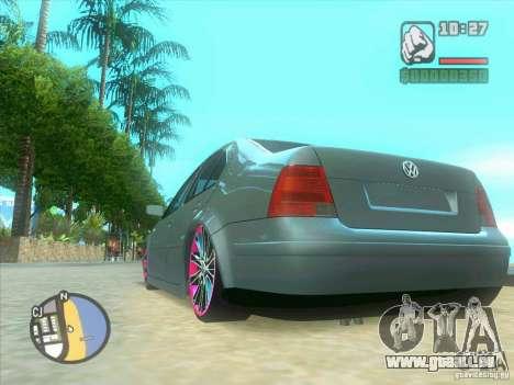 VW Bora Tuned für GTA San Andreas Innenansicht