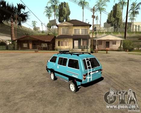 Toyota Town Ace pour GTA San Andreas sur la vue arrière gauche