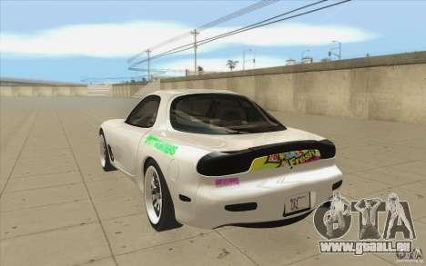 Mazda FD3S - Ebisu Style pour GTA San Andreas sur la vue arrière gauche