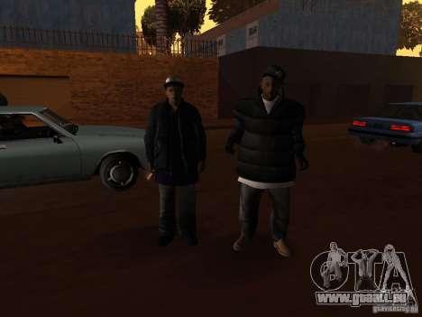 Vêtements d'hiver pour les Ballas pour GTA San Andreas sixième écran