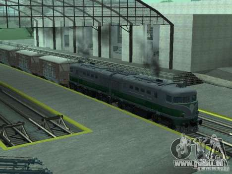 TE2-414 pour GTA San Andreas sur la vue arrière gauche