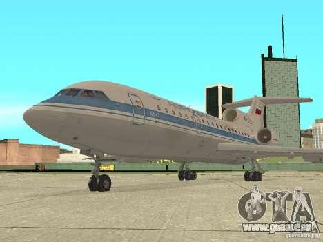 Aeroflot Yak-42 pour GTA San Andreas sur la vue arrière gauche