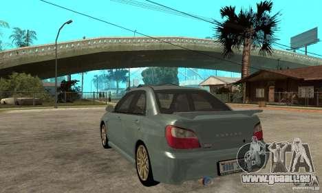 Subaru Impreza 2002 Tunable - Stock pour GTA San Andreas vue de droite