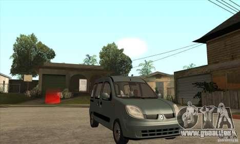 Renault Kangoo 2005 pour GTA San Andreas vue arrière