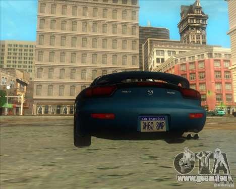 Mazda RX 7 für GTA San Andreas zurück linke Ansicht