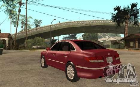Hyundai Azera 2009 pour GTA San Andreas sur la vue arrière gauche
