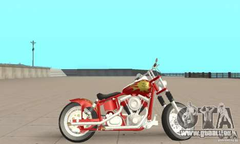 Orange County old school chopper Sunshine für GTA San Andreas zurück linke Ansicht