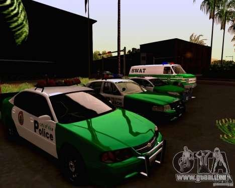 Chevrolet Impala 2003 VCPD police für GTA San Andreas Innenansicht