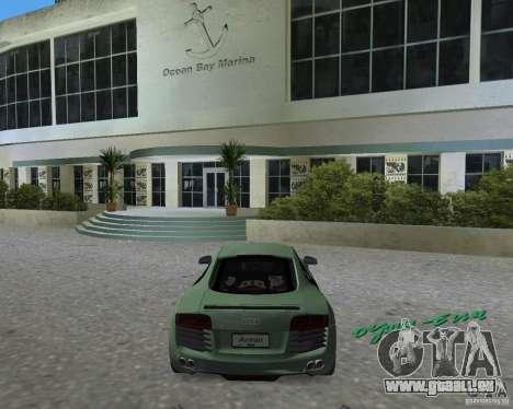 Audi R8 4.2 Fsi pour une vue GTA Vice City de la gauche