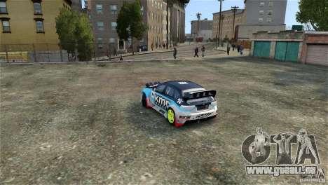 Subaru Impreza WRX STI Rallycross KMC Wheels pour GTA 4 est une vue de l'intérieur