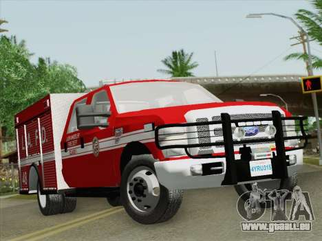Ford F-350 Super Duty LAFD für GTA San Andreas linke Ansicht